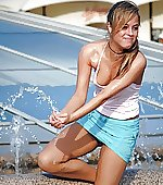 girl water splashing