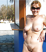 wife busty posing