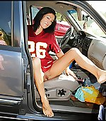 nice outfit tailgating