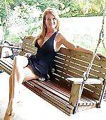 attractive swing porch