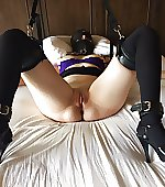 bed restrained submissive