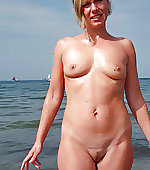 naked beach mom