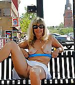 wife blonde posing