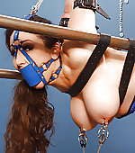 bound clamped gagged