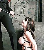 Securing her slave
