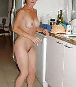 Sexy naked housewife