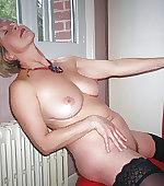Wife posing