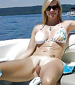 Shes on a boat!