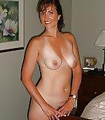 Naked brunette!
