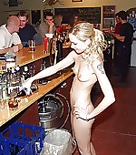 Naked barmaid