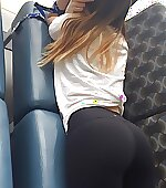 Waiting for her ride