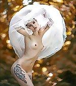 Bride has her