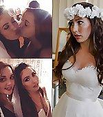 Bride loving her