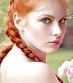 Red hair frecks