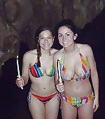 In a cavern