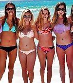 On target bikini