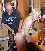 Bathroom beating